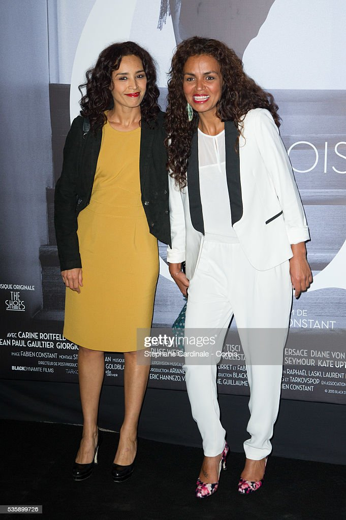Aida Touihri and Laurence Roustandjee attend the 'Mademoiselle C' Premiere, as part of the Paris Fashion Week Womenswear Spring/Summer 2014, in Paris.