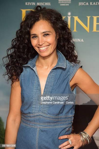 Aida Touihri attends the 'Divines' Paris Premiere at UGC Cine Cite des Halles on August 29 2016 in Paris France