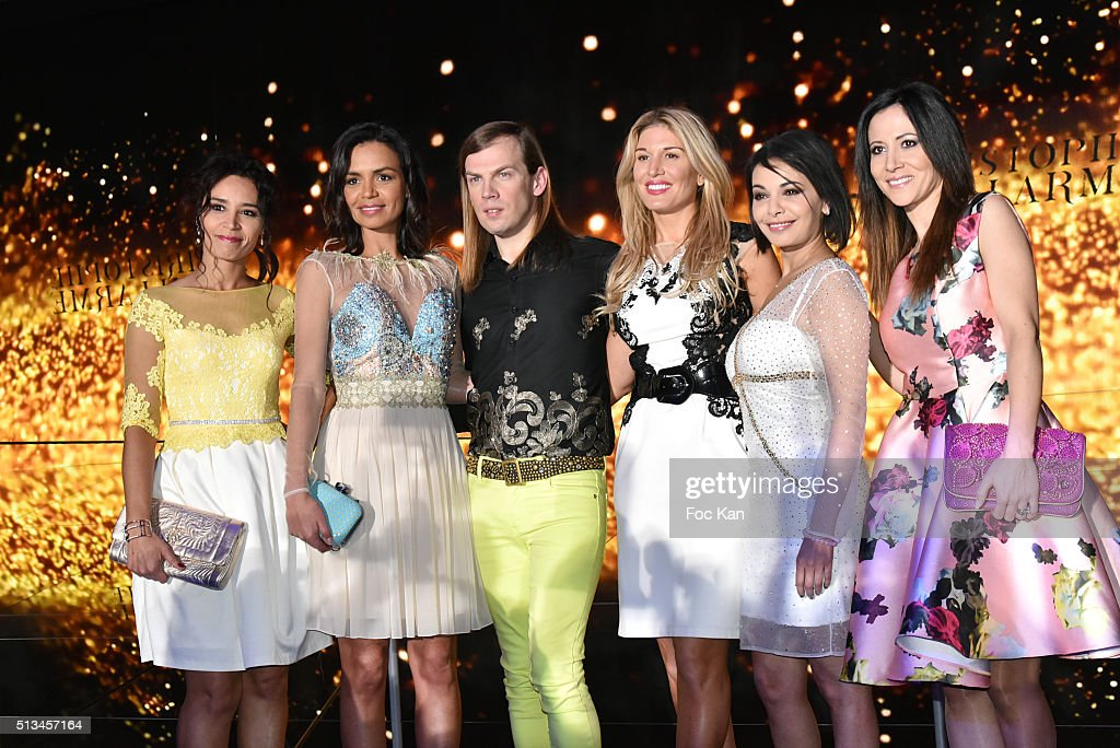 Aida Touihri Laurence Roustandjee Christophe Guillarme Hofit Golan Saida Jawad and Fabienne Carat attend the Christophe Guillarme show as part of the...