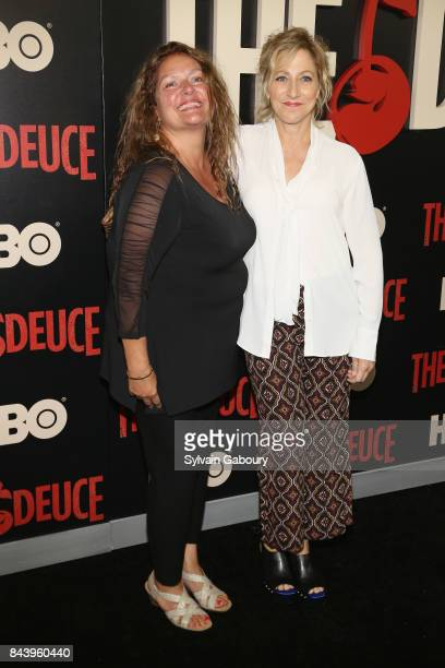 Aida Turturro and Edie Falco attend 'The Deuce' New York Premiere Arrivals at SVA Theater on September 7 2017 in New York City