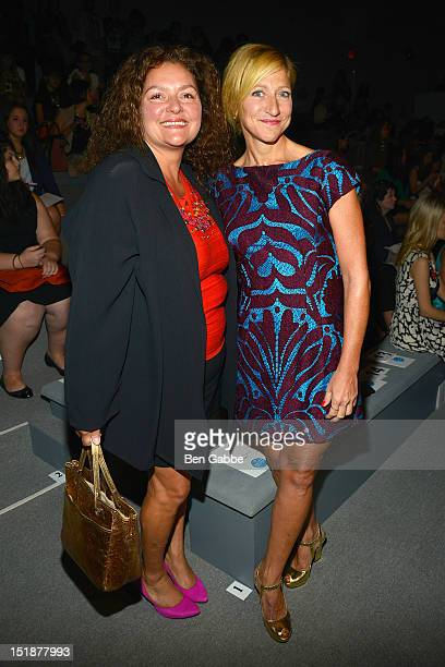 Aida Turturro and Edie Falco attend the Nanette Lepore show during Spring 2013 MercedesBenz Fashion Week at The Stage Lincoln Center on September 12...