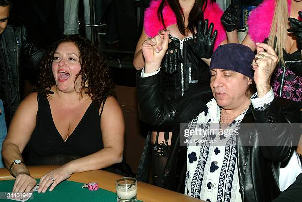 Aida Turturro and Steven Van Zandt during The Comedy Festival Celebrity Poker Tournament at PURE Nightclub at Caesars Palace in Las Vegas Nevada...