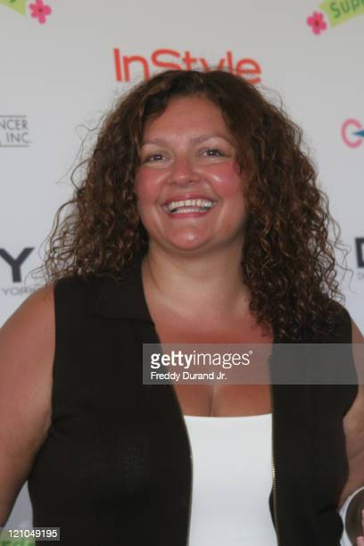 Aida Turturro during InStyle Magazine Present Super Saturday 9 at Nova's Art Project in Water Mill NY United States