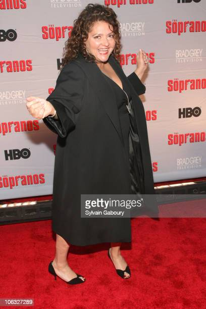 Aida Turturro during 'The Sopranos' Final Season World Premiere Arrivals at Radio City Music Hall in New York City New York United States