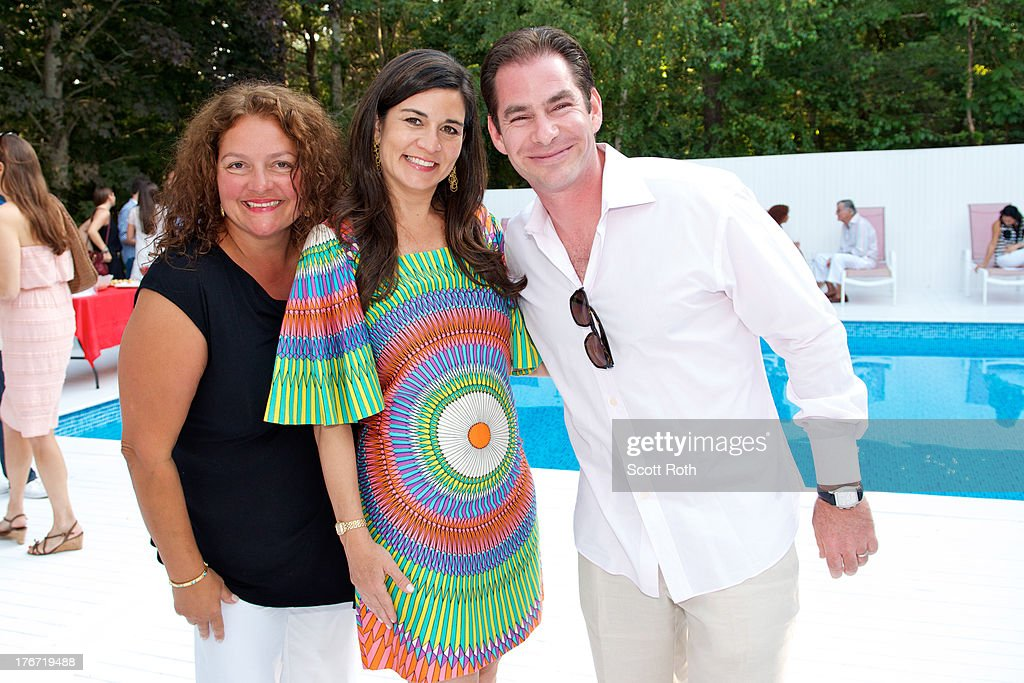 <a gi-track='captionPersonalityLinkClicked' href=/galleries/search?phrase=Aida+Turturro&family=editorial&specificpeople=214547 ng-click='$event.stopPropagation()'>Aida Turturro</a>, Samantha Daniels, and Steve Farber attend Celebrity Matchmaker, Samantha Daniels Hosts Cocktails For NYC Mayoral Candidate, Jack Hidary on August 17, 2013 in Wainscott, New York.