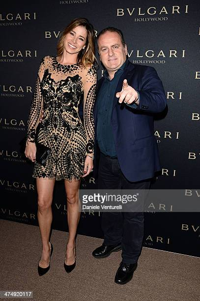 Aida Yespica and Pascal Vicedomini attends BVLGARI 'Decades Of Glamour' Oscar Party Hosted By Naomi Watts on February 25 2014 in West Hollywood...