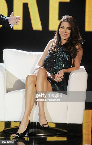 Aida Yespica attends 'Chiambretti Night' Italian Tv Show held at Mediaset Studios on October 20 2009 in Milan Italy
