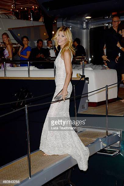 Aida Yespica attends the Roberto Cavalli yacht party at the 67th Annual Cannes Film Festival on May 21 2014 in Cannes France