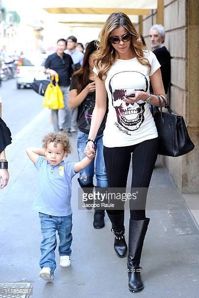 Aida Yespica sighting on April 7 2011 in Milan Italy