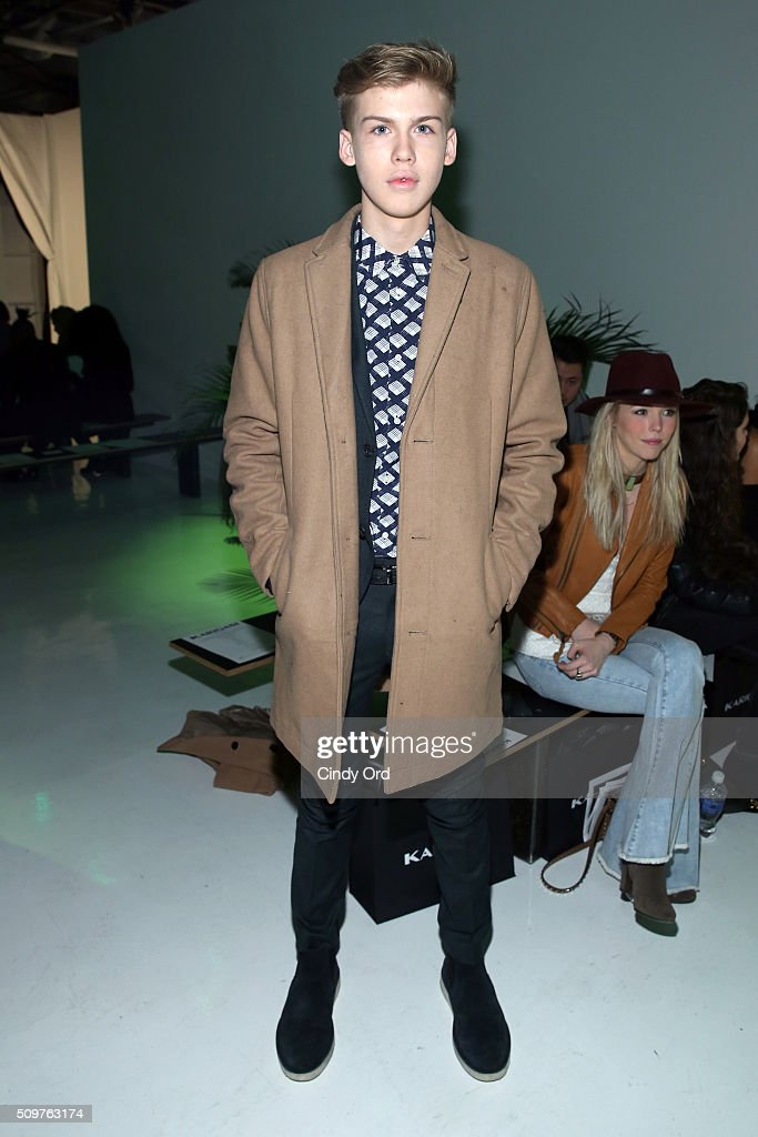 Aidan Alexander attends the Karigam Fall 2016 fashion show during New York Fashion Week: The Shows at The Space, Skylight at Clarkson Sq on February 12, 2016 in New York City.