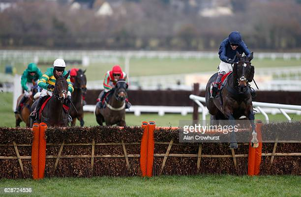 Aidan Coleman riding Call To Order clear the last to win The Citipost Handicap Hurdle Race at Cheltenham Racecourse on December 9 2016 in Cheltenham...