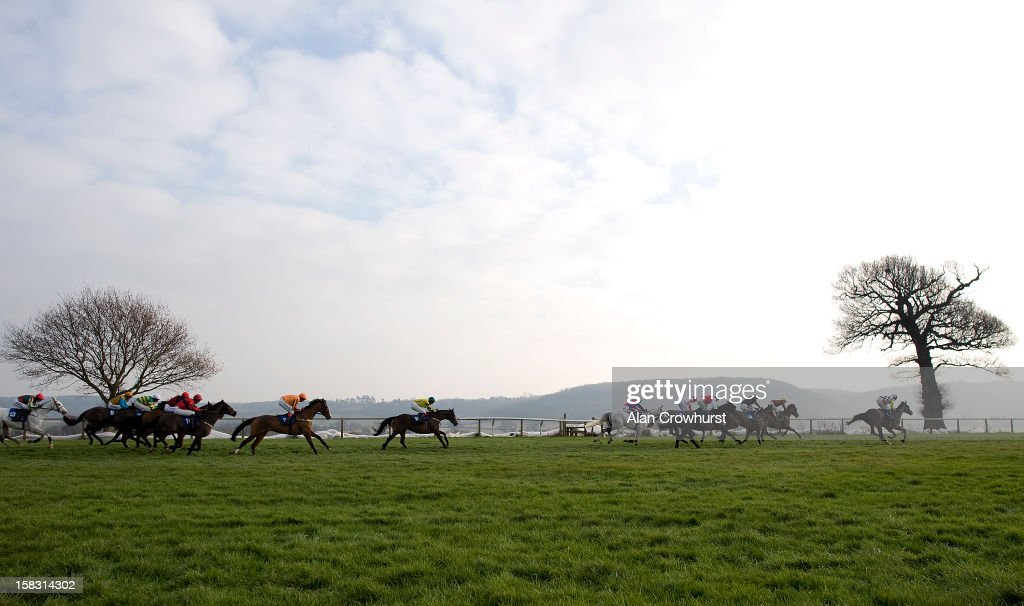Aidan Coleman riding Duaiseoir (4R) on their way to winning The Bathwick Tyres Taunton Handicap Hurdle Race at Taunton racecourse on December 13, 2012 in Taunton, England.