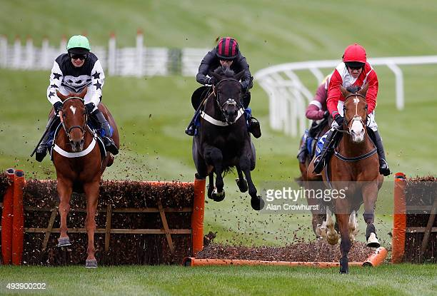 Aidan Coleman riding Penglai Pavilion clear the last to win The Neptine Investment Management Novices' Hurdle Race at Cheltenham racecourse on...