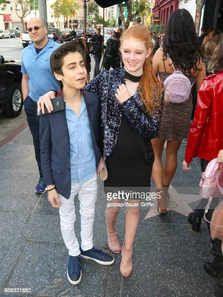 Aidan Gallagher and Abby Donnelly are seen on March 26 2017 in Los Angeles California