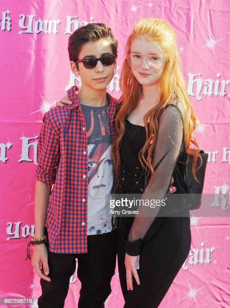 Aidan Gallagher and Hannah McCloud attend Rock Your Hair Presents 'Rock Your Summer' Party and Concert on June 3 2017 in Los Angeles California