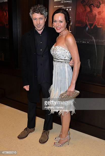 Aidan Gillen and Amanda Mealing attend the UK Premiere of 'Still' at Regent Street Cinema on May 8 2015 in London England