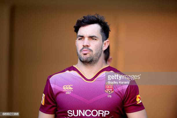 Aidan Guerra during the Queensland Maroons State of Origin captain's run at Suncorp Stadium on May 30 2017 in Brisbane Australia