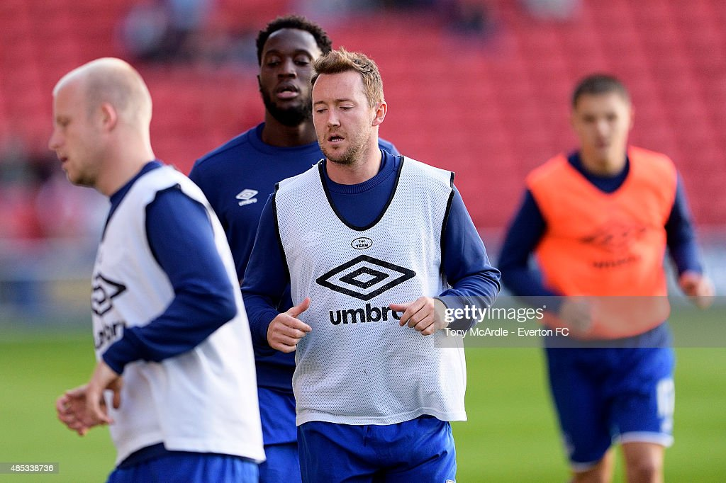 Aidan McGeady before the Capital One Cup Second Round match between Barnsley and Everton at Oakwell Stadium on August 26, 2015 in Barnsley, England.
