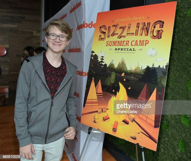 Aidan Miner attends Nickelodeon's Sizzling Summer Camp Special Event on May 15 2017 in Burbank California