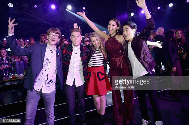 Aidan Miner Ricardo Hurtado Jade Pettyjohn Kira Kosarin and Lance Lim attend 2016 Nickelodeon HALO Awards at Basketball City Pier 36 South Street on...