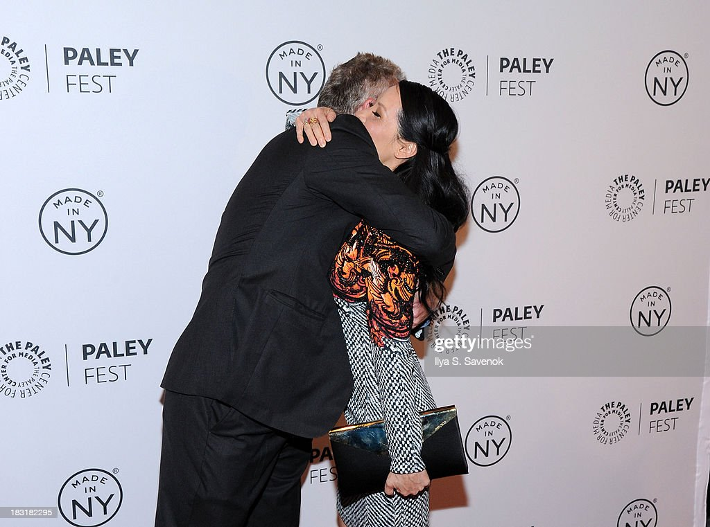 Aidan Quinn and Lucy Liu attend the 'Elementary' panel during 2013 PaleyFest: Made In New York at The Paley Center for Media on October 5, 2013 in New York City.