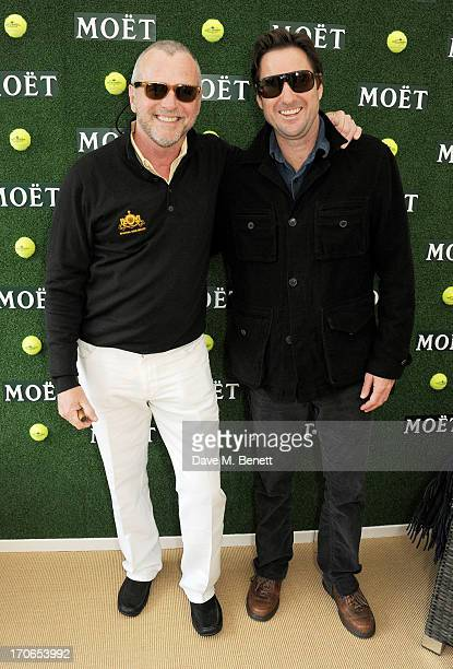 Aidan Quinn and Luke Wilson attend The Moet Chandon Suite at The Aegon Championships Queens Club finals on June 16 2013 in London England