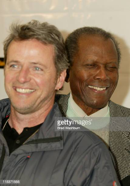 Aidan Quinn and Sidney Poitier during 2005 Sundance Film Festival 'Nine Lives' Premiere at Eccles Center Theatre in Park City Utah United States