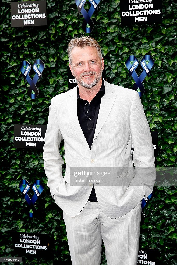 Aidan Quinn attends One For The Boys Fashion Ball hosted by Samuel L Jackson uniting men against cancer to kick start London Collections Men at The...