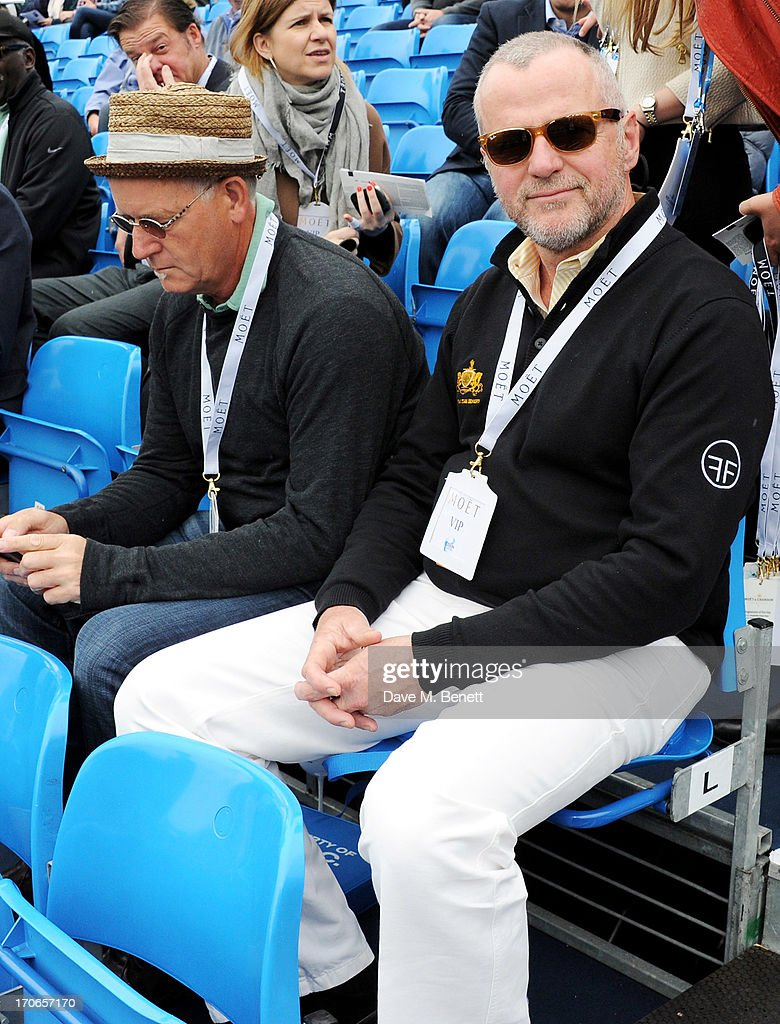 Aidan Quinn (R) attends The Moet & Chandon Suite at The Aegon Championships Queens Club finals on June 16, 2013 in London, England.
