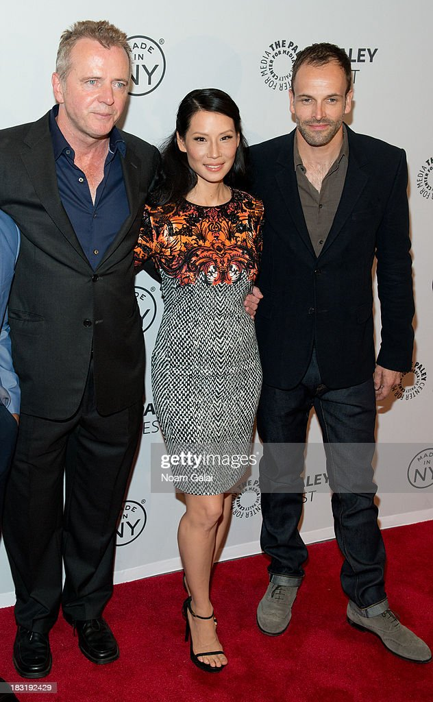 Aidan Quinn, Lucy Liu and Jonny Lee Miller attend the 'Elementary' panel during 2013 PaleyFest: Made In New York at The Paley Center for Media on October 5, 2013 in New York City.