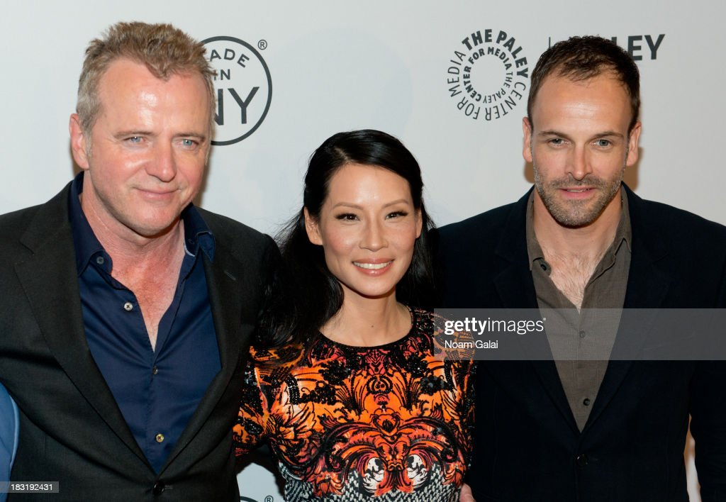Aidan Quinn Lucy Liu and Jonny Lee Miller attend the 'Elementary' panel during 2013 PaleyFest Made In New York at The Paley Center for Media on...
