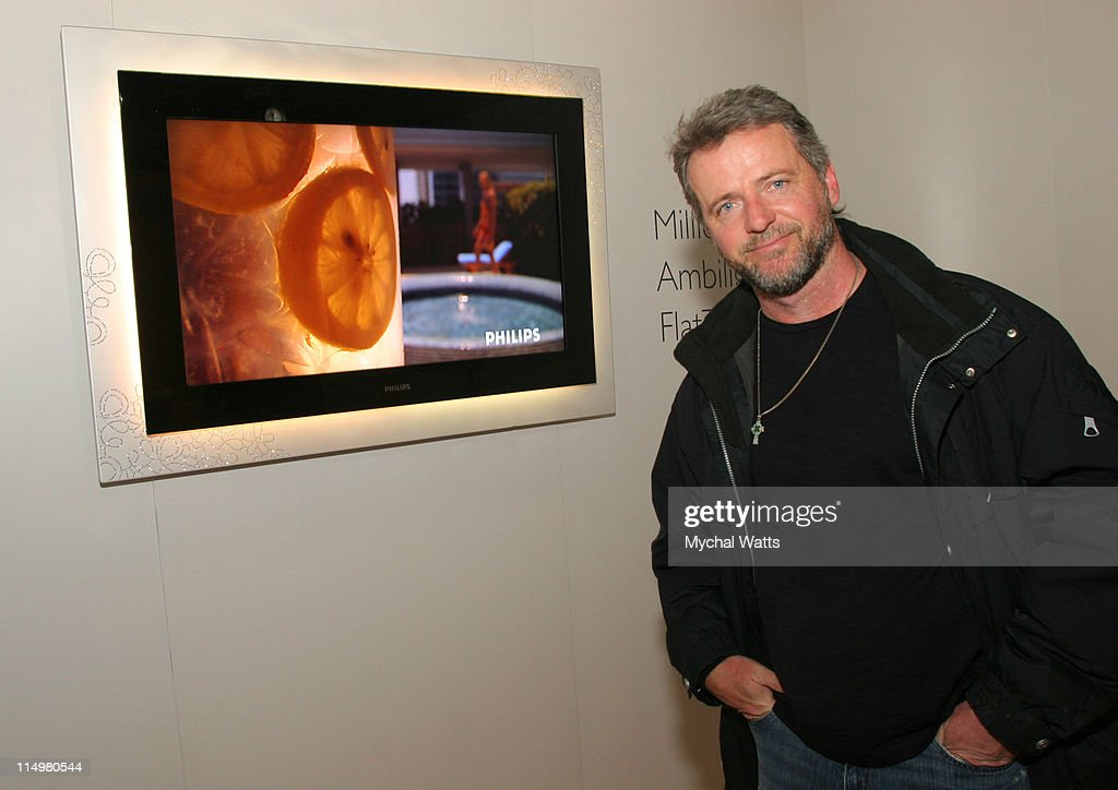 <a gi-track='captionPersonalityLinkClicked' href=/galleries/search?phrase=Aidan+Quinn&family=editorial&specificpeople=171142 ng-click='$event.stopPropagation()'>Aidan Quinn</a> with Millionth Ambilight Flat TV during 2007 Park City - Philips Lounge at Village at the Lift - Day 6 at Philips Lounge in Park City, Utah, United States.