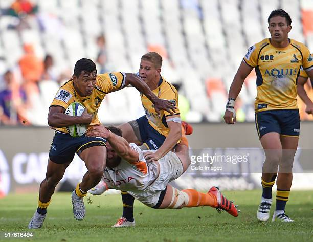 Aidan Toua of the Bumbies during the Super Rugby match between Toyota Cheetahs and Brumbies at Toyota Stadium on March 26 2016 in Bloemfontein South...
