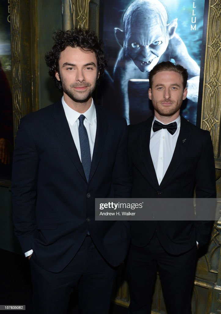 Aidan Turner (L) and Dean O'Gorman attend 'The Hobbit: An Unexpected Journey' New York premiere benefiting AFI at Ziegfeld Theater on December 6, 2012 in New York City.