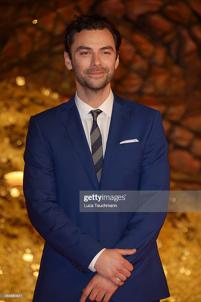 Aidan Turner attends the German premiere of the film 'The Hobbit: The Desolation Of Smaug' (Der Hobbit: Smaugs Einoede) at Sony Centre on December 9, 2013 in Berlin, Germany.