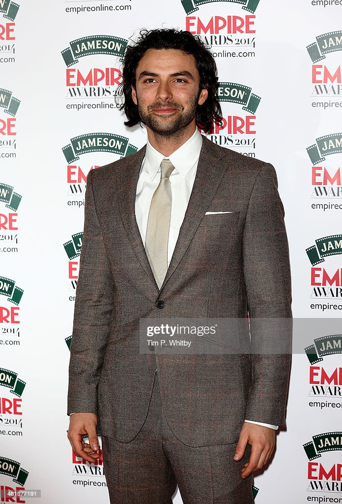 <a gi-track='captionPersonalityLinkClicked' href=/galleries/search?phrase=Aidan+Turner+-+Irish+Actor&family=editorial&specificpeople=10937987 ng-click='$event.stopPropagation()'>Aidan Turner</a> attends the Jameson Empire Awards 2014 at the Grosvenor House Hotel on March 30, 2014 in London, England. Regarded as a relaxed end to the awards show season, the Jameson Empire Awards celebrate the film industry's success stories of the year with winners being voted for entirely by members of the public. Visit empireonline.com/awards2014 for more information.