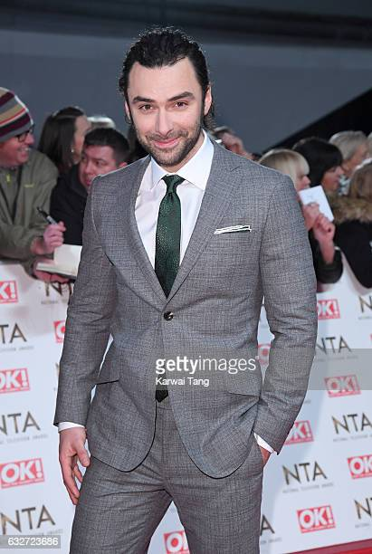 Aidan Turner attends the National Television Awards at The O2 Arena on January 25 2017 in London England