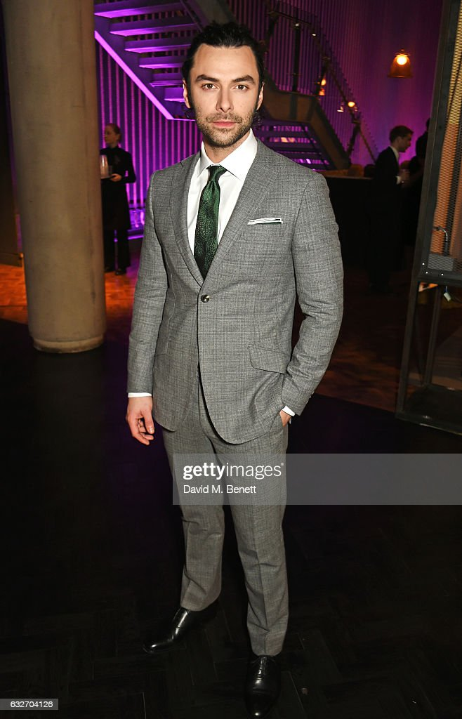 Aidan Turner attends the National Television Awards cocktail reception at The O2 Arena on January 25, 2017 in London, England.