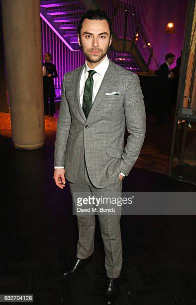 Aidan Turner attends the National Television Awards cocktail reception at The O2 Arena on January 25 2017 in London England