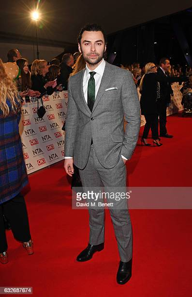 Aidan Turner attends the National Television Awards on January 25 2017 in London United Kingdom