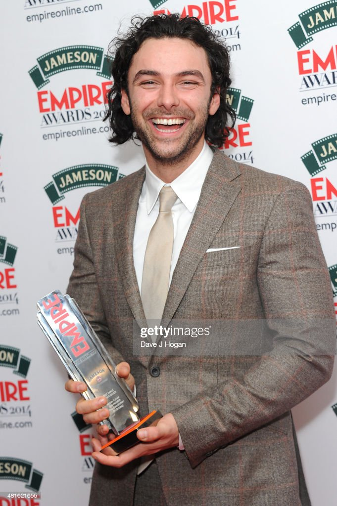 <a gi-track='captionPersonalityLinkClicked' href=/galleries/search?phrase=Aidan+Turner+-+Irish+Actor&family=editorial&specificpeople=10937987 ng-click='$event.stopPropagation()'>Aidan Turner</a> poses in the press room at the Jameson Empire Film Awards 2014 at The Grosvenor House Hotel on March 30, 2014 in London, England.