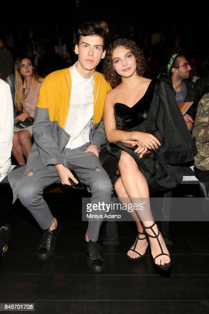 Aiden Alexander and Camren Bicondova attends the John Paul Ataker fashion show during New York Fashion Week The Shows at Gallery 1 Skylight Clarkson...