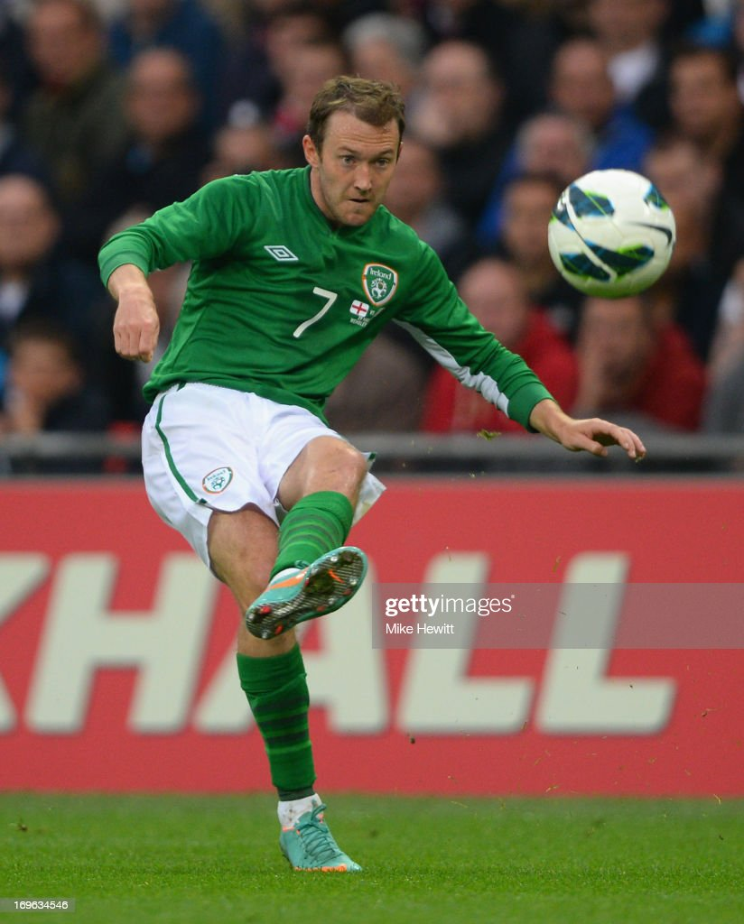 <a gi-track='captionPersonalityLinkClicked' href=/galleries/search?phrase=Aiden+McGeady&family=editorial&specificpeople=713430 ng-click='$event.stopPropagation()'>Aiden McGeady</a> of the Republic of Ireland in action during the International Friendly match between England and the Republic of Ireland at Wembley Stadium on May 29, 2013 in London, England.