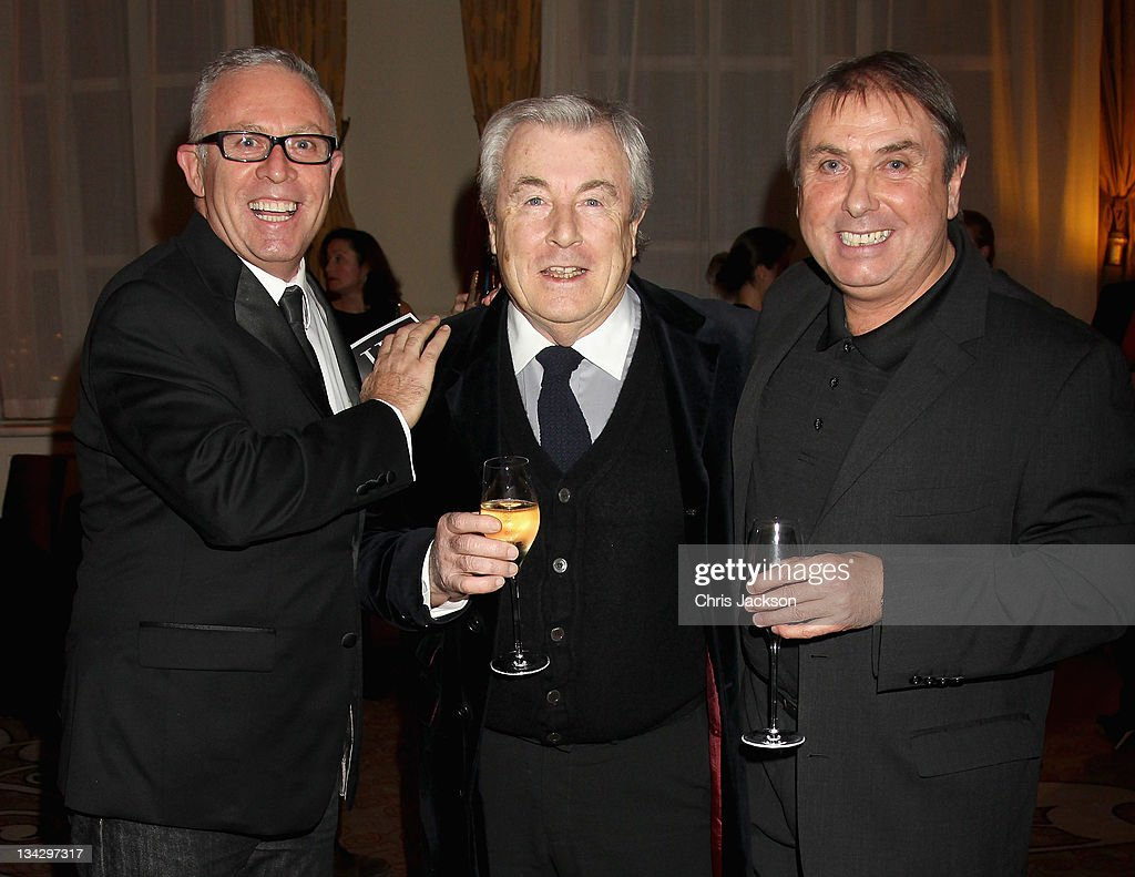 Aiden Sullivan, Terry O'Neil and Tom Stoddart attend Hidden Gems Photography Gala Auction in support of Variety Club at St Pancras Renaissance Hotel on November 30, 2011 in London, England.