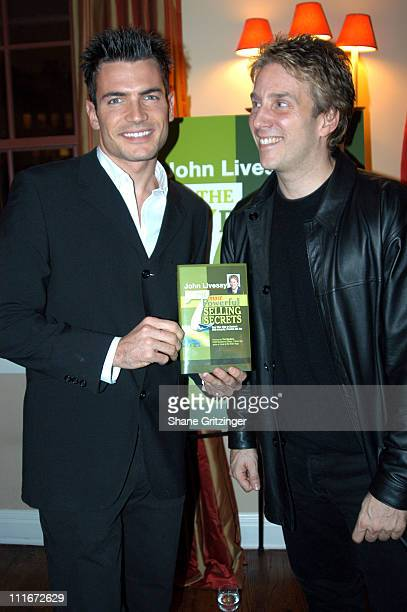 Aiden Turner and John Livesay during Private Book Launch Party for Author John Livesays New Book 'The Most Powerful Selling Secrets' at Private...