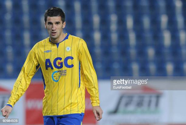 Aidin Mahmutovic of FK Teplice during the Gambrinus Liga match between FK Teplice and FK Mlada Boleslav held on October 24 2009 at the Na Stinadlech...