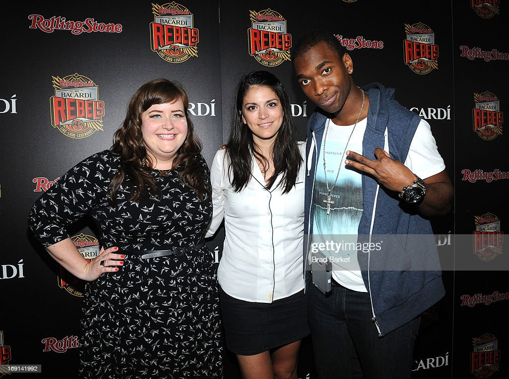Aidy Bryant, Cecily Strong, and <a gi-track='captionPersonalityLinkClicked' href=/galleries/search?phrase=Jay+Pharoah&family=editorial&specificpeople=7252581 ng-click='$event.stopPropagation()'>Jay Pharoah</a> attend Rolling Stone hosts Bacardi Rebels at Roseland Ballroom on May 20, 2013 in New York City.