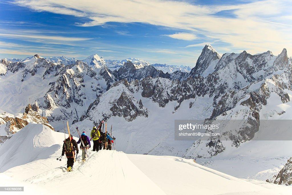 Aiguille du Midi at Mt Blanc