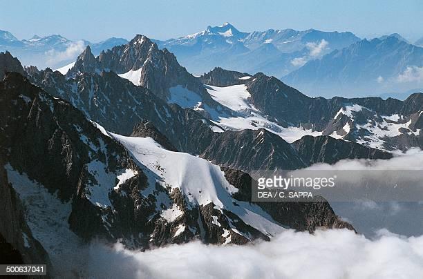 Aiguille du Midi mountain highest point of the Aiguilles de Chamonix Mont Blanc massif RhoneAlpes France