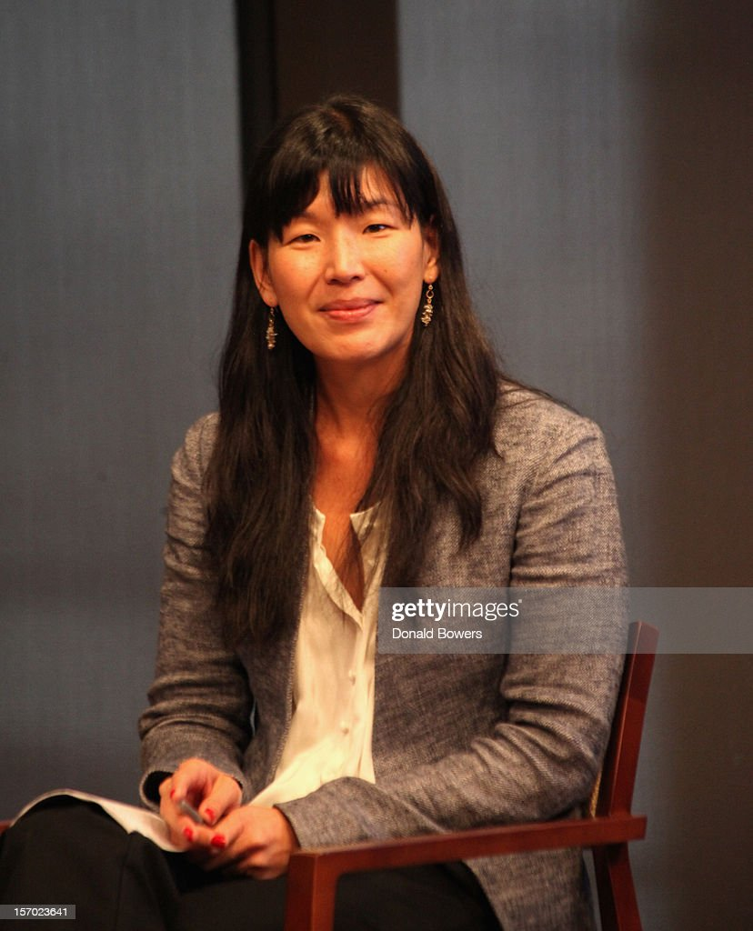 Ai-jen Poo speaks during a panel at The Ford Foundation Hosts Day Of Discussion On The Hidden World Of Domestic Work In The US at Ford Foundation on November 27, 2012 in New York City.